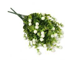 WINOMO Artificiale dell'Eucalyptus pianta fiori Home Decor (bianco)
