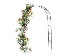 Relaxdays Arco per Rampicanti, Decorazione Giardino, Sostegno per Piante 240 X 140 cm
