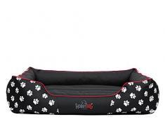 Hobbydog Cordura Prestige Letto per Cani, XL, Colore: Nero con Zampe