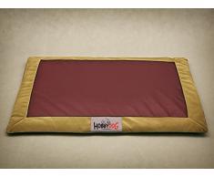 Hobbydog latafzb6 hundematte Cuccia Divano per Cani Cesta per Cani Animale Letto Flok, L, 90 cm x 70 cm x 3 cm, Colore: Rosso