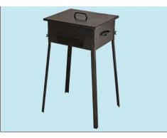 Barbecue Fornacella Carbonella in ferro per Cameggio e scampagnate 25x25xH66 cm.-media