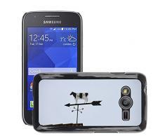 GoGoMobile Hot Style-Custodia rigida per cellulare, a forma di mucca, M00123861 Vento a segmenti oscillanti, Segnavento/Galaxy, Samsung Galaxy Ace 4 Ace4/LTE SM-G313F