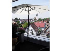 balkonhalterung per aste da 25,5 fino a Ø 55 mm – 1 pezzi. Ombrellone da balcone titolare – fino a 40 mm Ø – Grande – Acciaio Inossidabile – Distanza Parasole Titolare per balconi ringhiere per esterno o interno di montaggio