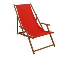 Sdraio legno sedia a sdraio, lettino da giardino Rosso Sedia a sdraio spiaggia sedia in legno massello mobili da giardino 10 – 308