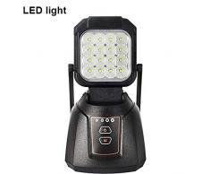 AAIWA Faro LED Esterno 48W 4800LM Lampada da Lavoro Ricaricabile da Pesca Lampade di Ispezione per Auto Campeggio Home e di Emergenza Uso con Torcia LED