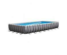 Intex 26372 Piscina con bordi Piscina rettangolare 54368L Blu, Grigio piscina fuori terra