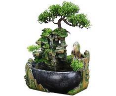 Fontana da meditazione per interni Cascata decorativa da tavolo per uso interno ed esterno (con LED)