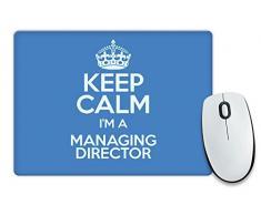 "Blu con scritta ""Keep Calm I'm a direttore colore 3368-Cassetta per posta Tappetino per Mouse"