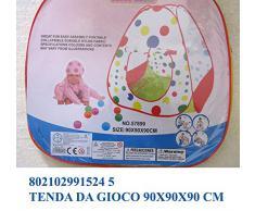 Tenda giocattolo da giardino casa mare per giochi bimbi con palle; dimensioni cm90*90*90