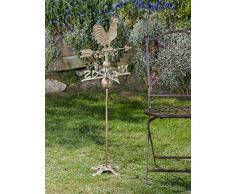Nostalgia banderuola stand gallo decoratione giardino ferro segnavento verde