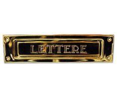 Buca Per Lettere per Posta in Ottone Stampato Finitura Bronzo Art 2501