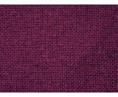 Arketicom Pacco da 4 Cuscini Artigianali Per Sedie Quadrati Con 2 Laccetti Antiscivolo Misto Cotone Poliestere Color Viola cm 45x45x3 (cuscino quadrato sedia casa cucina giardino)