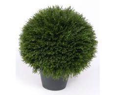 Cipresso tondo in vaso, 510 rametti, 45 cm, Ø 40 cm - Cipresso pianta / Pianta artificiale in vaso- artplants