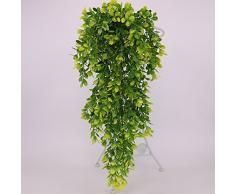 Gemini _ Mall® pianta artificiale da appendere alla parete Vines finti per matrimonio casa giardino ufficio decorazione da parete Light Green