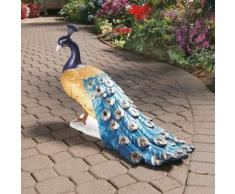 Design Toscano by Blagdon DB20191 - Scultura da giardino, a forma di maestoso pavone, in resina