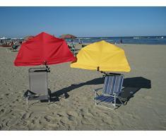 Sedia a sdraio scaffaii l'ombrellone - STABIELO - esclusivo scaffaii ombrello Holly'sun colore BORDEAUX rosso - rivestimento - rimovibile + lavabile + intercambiabili - UPF 30 + 40 + 50 + Resistente alle intemperie, impermeabile,