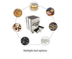 TREEMEN Pieghevole BBQ Carbone,Griglia A Carbone Professionale per 1-2 Persone,Utensile Barbecue Grill Riunione di Famiglia in Balcone E Giardino Barbecues, Campeggio