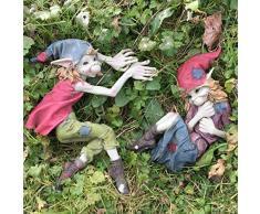 Pixie Coppia Targhe da parete Boy & Girl magico da giardino di alta qualità Decor Scultura elfo fate e bambini Set di 2 altezza: 20 cm
