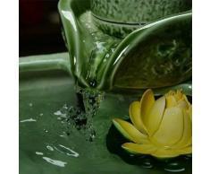 X&L rocaille ceramica fontana di acqua di umidificazione pesce atomizzata serbatoio grafite feng shui palla decorazione dell'ufficio creativo albergo casa artigianato (37 * 22 centimetri) , 37*22