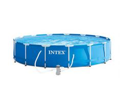 Intex- Piscina Frame con Pompa Filtro, Colore Blu, 457x84 cm, 28228