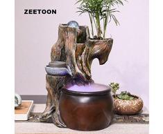 GETSO Forma 110V-220V Bonsai Naturale in Resina Tronco Fontana casa Feng Shui Paesaggio della Decorazione umidificatore Regalo Vaso da Fiori Crafts