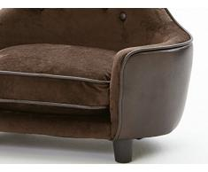 Cestino cani divano cani animale letto cane divano letto cani gatto letto cane Brownie i. 67 x 43 x 30 cm. superficie della sede: 52 x 32 x 7 xm. cuscino: 30 x 10 cm