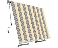 Tenda da sole per balcone con sistema a caduta ECRU/GRIGIO 250x250 cm PAPILLON