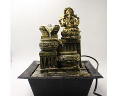 Ganesh cascata fontana con luce LED interni Home Decor item