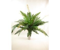 Gt decorations - 80 cm di larghezza seta artificiale verde pianta di felce boston