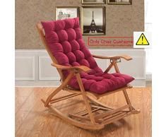 SQINAA Jumbo cuscini sedia a dondolo in inverno,Cuscino schienale per home Veicoli Tatami Coperta Cuscini per sedia swing all'aperto -B 48x120cm(19x47inch)