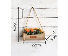 Scaffale Fioriera Pastorale americana parete henging creativo Fiore Rack pianta stand Flower Pot scaffale per balcone Soggiorno coperta gialla con piante fiori ( dimensioni : A )