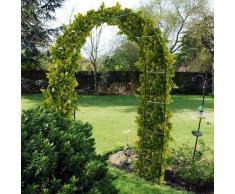 2,4 m Arco da giardino in acciaio per le piante rampicanti. Traliccio. Caratteristica del percorso esterno. Le rose