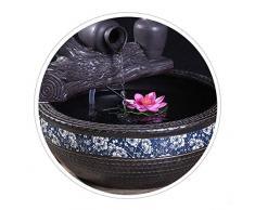 Fontana in ceramica,Fontane da tavolo interne Fontana da tavolo Fontana da tavolo zen Umidificatore a fontana Fengshui decoración interior Fontana del buddha-Umidificatore a fontana 13.8pollice