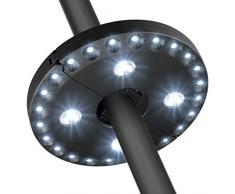 Lampada per Ombrellone, Giardino Luce Batteria Idromassaggio esterno Balcone Ombrello Lampada, 3 Livelli di Illuminazione