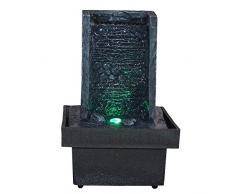 Zen Light, Fontana per interni con LED che cambiano colore, da parete