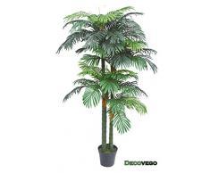 Palmizio Palma Areca Pianta Albero Artificiale Plastica 190cm Decovego