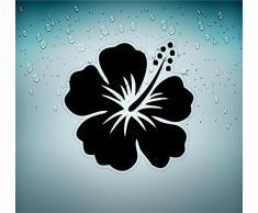 Adesivi per auto, moto, biker, per macbook, motivo: ibisco pianta albero r3 fiore