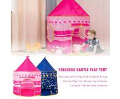 chora Princess Castle,Tendone per Bambini E Tenda Princess Castle, Pieghevole Prince Pop Up Play Tent House Toy Outdoor Tenda per Bambini per Ragazze/Ragazzi Indoor E Outdoor