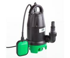 Ultranatura SP-100 - Pompa per Le Acque di Scarico, 350 Watt, Pompa Sommersa con Interruttore Flottante - Portata Fino a 7.000L/H, Altezza di Portata Max. 5M