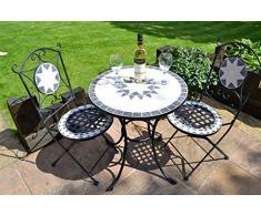 Tavolo in ferro battuto da giardino acquista tavoli in ferro battuto da giardino online su livingo - Tavolo giardino mosaico prezzi ...