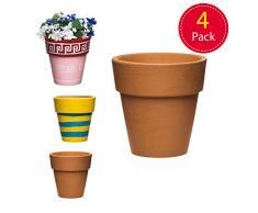 Baker Ross-Mini vasi per Piante in Terracotta Pronti per dipingere e esporre i Bambini (Confezione da 4), Colore, AR459