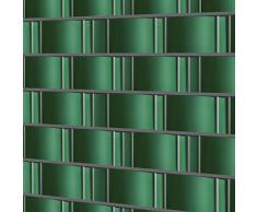 Jago Protezione frangivento frangivista telo recinzione protezione vista per balcone 35 m colore verde set da 1