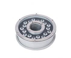 FADDR - Luce Subacquea con 6 LED, in Acciaio Inox IP68, Fontana a zampillo Impermeabile con azionamento Trasversale IC Intelligente, 18w, Taglia Unica