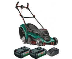 Bosch Home and Garden 06008A450D Rotak 430 LI Rasaerba a 2 Batterie, 78.5 x 40.7 x 48.8 cm, Cesto 50L, 36 V, Verde, Taglio 43 cm/2-7 cm, 1 Pezzo