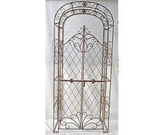 CLP Arco per piante rampicanti MELISSA con cancello, finemente decorato, in 6 colori a scelta bianco