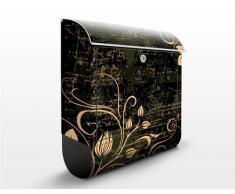 Cassetta postale Delicate Cirrus | 39x46x13cm Cassetta per lettere Cassetta postale di design con Supporto Giornale Cassetta postale con giornale rotolo Post Box, Dimensione: 46cm x 39cm
