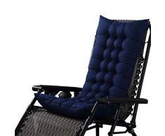 Eillybird - Cuscino per Sedia a Dondolo, Imbottito, in Rattan, con Tatami Mat, per Finestra Blu