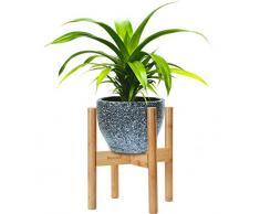 Supporto per Piante in Bamboo di Harcas. Regolabile per adattarsi a vasi per piante da 22 a 32 centimetri. Uso interno ed esterno. Accessorio per la casa Metà Secolo (pianta e vaso non inclusi)