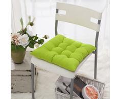 Worsendy Cuscino Sedia, Cuscini per Giardino, per Dentro e/o Fuori,40x40 cm,Disponibile in Tanti Colori Diversi,Cuscini per sedie da Giardino,Copri Sedia Cucina (Verde)