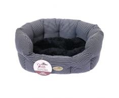 Rosewood Dog 40 Divano per cani ovalo Blue Stripes